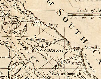 Map Of Georgia Augusta.Petersburg Georgia Wikipedia