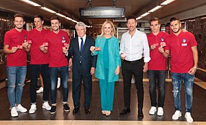 Antoine Griezmann - Griezmann at Wanda Metropolitano Metro Station Launch with team Atletico Madrid