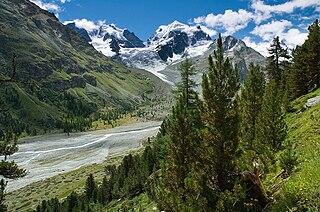 valley in Graubünden, Switzerland
