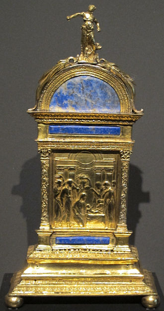 Pax (liturgical object) - Pax including a plaquette by Valerio Belli, 1520s