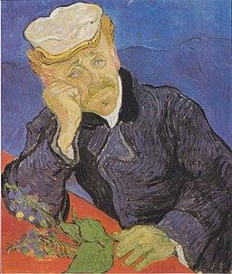 Van Gogh - Bildnis Doktor Gachet mit Fingerhutzweig