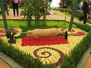 Ellerslie Flower Show - Image: Vegetable sculture at Ellerslie Flower Show