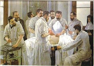 Vicente Castell - Image: Vicente Castell Laparotomía 1898