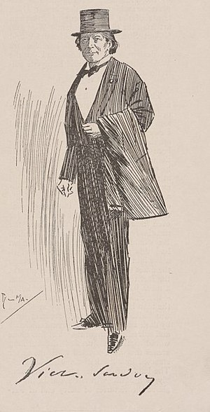 Victorien Sardou - A sketch of Sardou from 1899