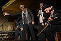 Vienna 2014-06-02 Bunkerei Augarten - from left, Willi Resetarits, Marilies Jaksch, Ernst Molden.jpg