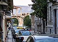 View of the Arch of Hadrian and the Temple of Olympian Zeus from Lisikratous Street in Plaka.jpg