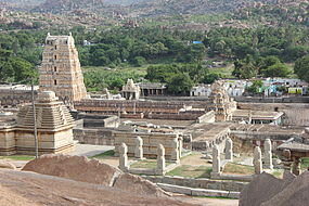 View of the Virupaksha temple complex from Hemakuta hill.JPG