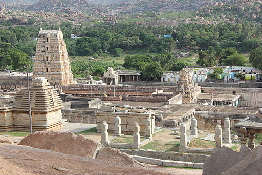 View of the Virupaksha temple complex from Hemakuta hill