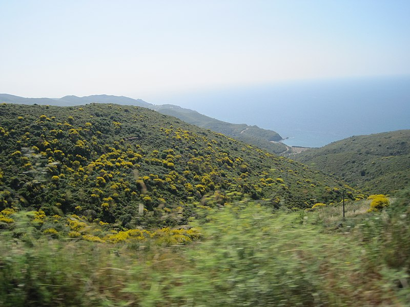 File:View to LESBOS Island Mountains (GR) - panoramio (1).jpg