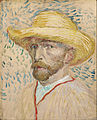 Vincent van Gogh - Self-portrait with straw hat - Google Art Project.jpg