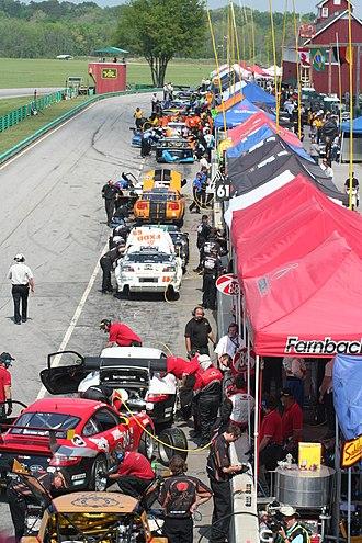 Virginia International Raceway - Pit road during 2008 Grand-Am race