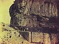Vista parcial del puente de Valoria en la zona del Congosto entre 1855 y 1857 - William Atkinson.jpg