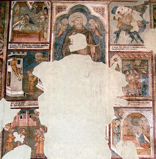 Storie della Vita di San Gherardo di Villamagna, affresco del XIV secolo posto nella Pieve dei Santi Leonardo e Cristoforo a Monticchiello
