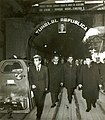 Vizita de lucru a lui Nicolae Ceaușescu împreună cu alți conducători de partid și de stat pe șantierele metroului bucureștean.(19.X.1977).jpg