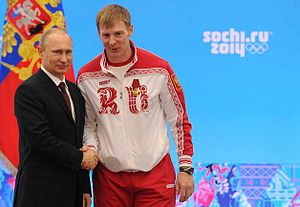 Alexandr Zubkov - Zubkov with President Vladimir Putin at the award ceremonies for Russian athletes, 24 February 2014