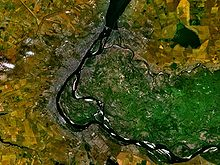 Vue satellite. De nos jours, Stalingrad s appelle Volgograd .