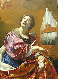 Santa Cecilia nel dipinto di Simon Vouet