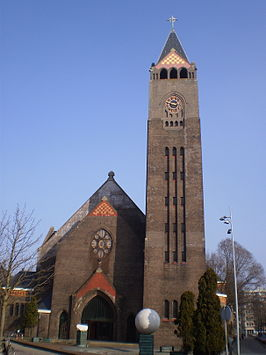 De Vredeskerk in de winter.