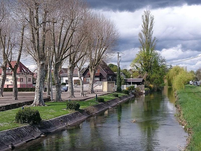 Fichier:Vue du Brunnwasser et de la place Jehl (Rhinau).JPG