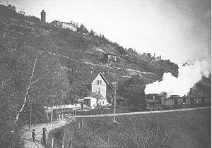 Stuttgart–Hattingen railway - A Württemberg F type steam locomotive in Stuttgart-Heslach prior to 1900