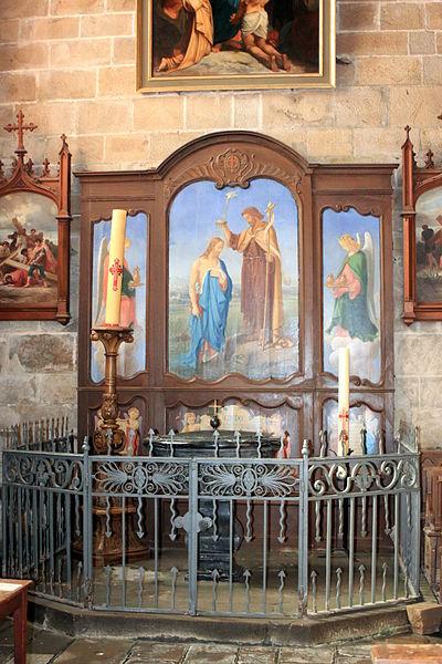 Baptistère, église Notre-Dame-de-Pitié, Fr-44-le Croisic.