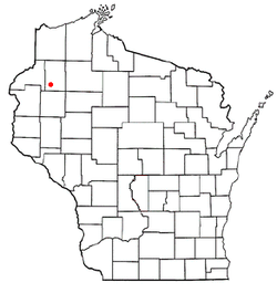 Location of Shell Lake, Wisconsin