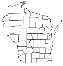 Location of Waldo, Wisconsin