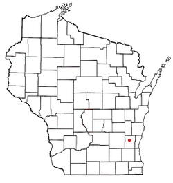 Location of West Bend (town), Wisconsin