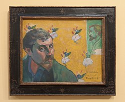 Paul Gauguin: Self-portrait with Portrait of Bernard