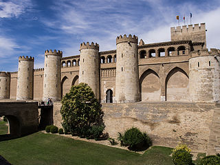Aljafería cultural property in Zaragoza, Spain
