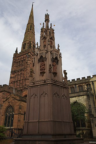 Coventry Cross - The replica of the cross was erected in 1976.