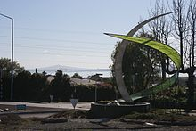 Wade Cornell sculpture, Te Atatu South roundabout, Te Atatu Road.jpg