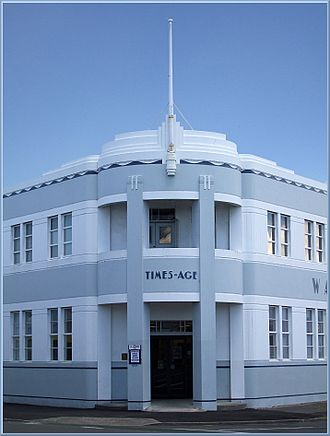 Wairarapa Times-Age - The Wairarapa Times-Age's Art Deco-inspired headquarters in Masterton