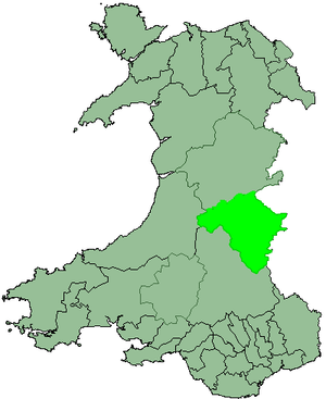 District of Radnorshire - Image: Wales Radnor 1974