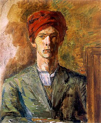 Zygmunt Waliszewski - Self-portrait in a Red Turban (1929)