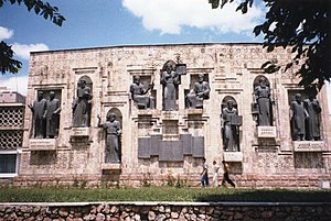 Tajik literature - Monument in Dushanbe to Tajik writers