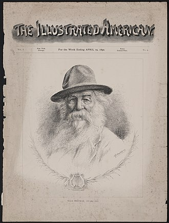 The Illustrated American - Walt Whitman on cover of the April 19, 1890 issue