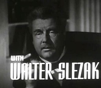 Walter Slezak - Slezak in The Fallen Sparrow trailer, 1943