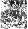 Walther und Hildgund auf der flucht (1883) by Johannes Gehrts.jpg