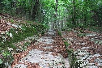 Villach - Roman road in Warmbad
