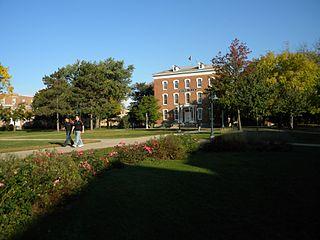 Old Main (Wartburg College) building in Iowa, United States