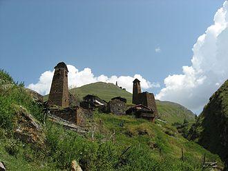 Tusheti - Image: Watch towers