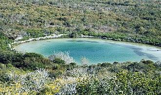 Blue hole - Watling's Blue Hole, San Salvador Island, Bahamas