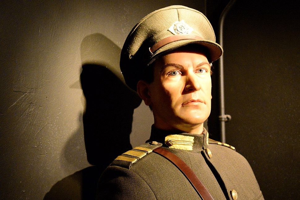Wax figure of Michael Collins at the National Wax Plus Museum, Dublin, Ireland.