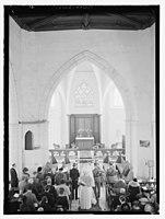 Wedding ceremony in church, Dawkins Anderson wedding LOC matpc.14090.jpg
