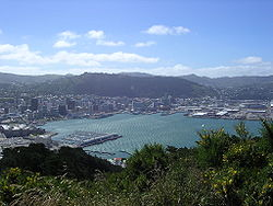 Wellington seen from Mount Victoria lookout