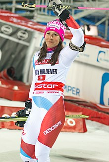 Wendy Holdener in Hammarbybacken World Cup 2018