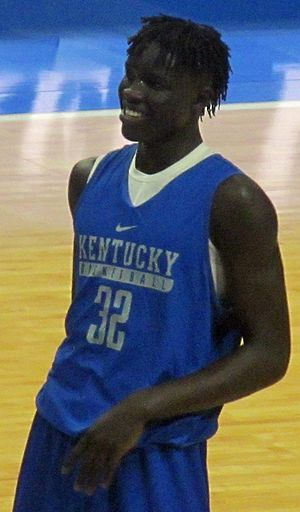 Wenyen Gabriel - Gabriel at Kentucky's 2016 Blue-White scrimmage