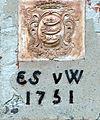 Werder AT Kirche Wappen Walsleben.JPG