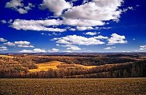 West Hemlock Township, Montour County, Pennsylvania - The rolling hills of West Hemlock Township